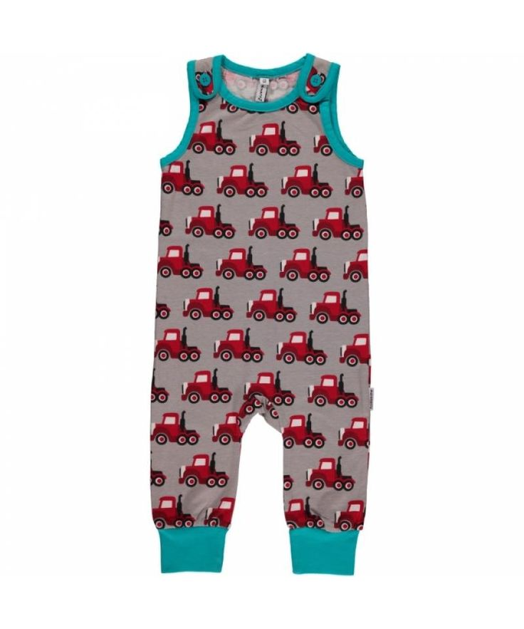 Maxomorra Truck Playsuit - Made from GOTS Certified Organic Cotton. Available at Modern Rascals.