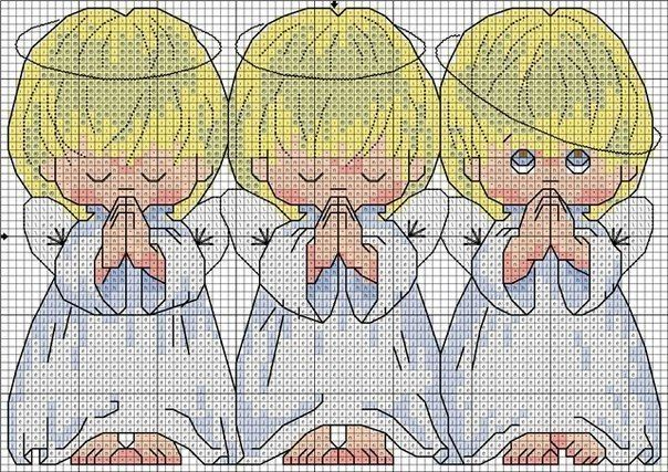 Embroidery Three angels2