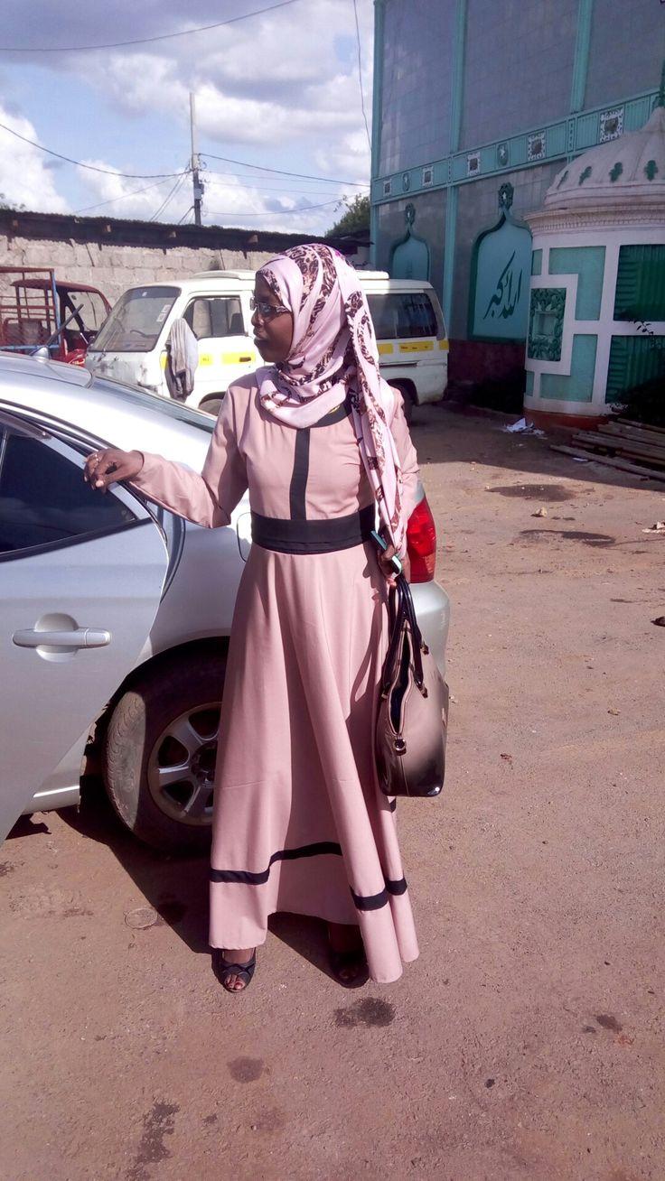 Cream circular hijab
