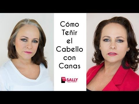 Cómo Teñir el Cabello con Canas - YouTube