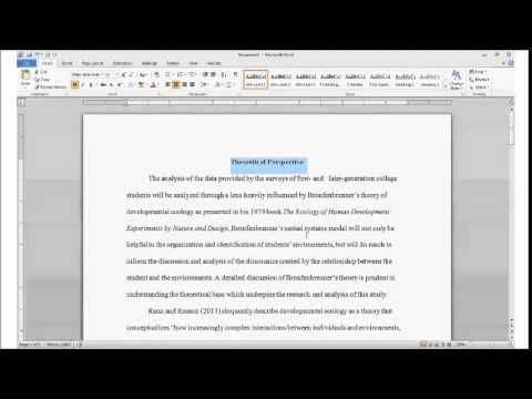 Apa paper for sale using headings example