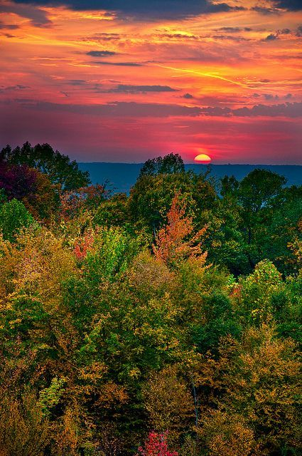 Autumn sunsets and holidays and events on pinterest