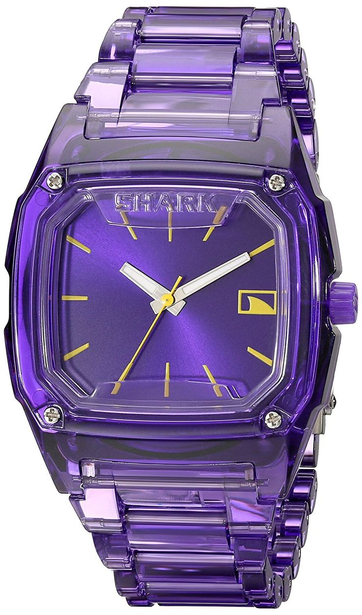 Freestyle Women's 101989 Shark Purple Polycarbonate Watch with Link Bracelet >>> Check out the image by visiting the link.