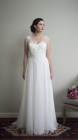 Swan Lake Dress with Waterlily Lace Bodice   by Sophie Voon Bridal  Sophie Voon wedding dresses lovingly designed and crafted in our Wellington, New Zealand workroom.