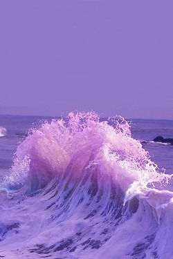 Crashing waves of blues & purples  ♥ ♥ www.paintingyouwithwords.com