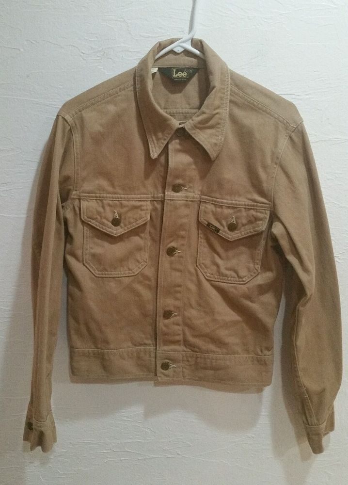 Men's or Unisex Vintage 1970s LEE Jacket, Tan, Trucker or Hippy Style SMall #LEE #Casual