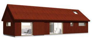 The house model Slåtteråsen 86, exterior