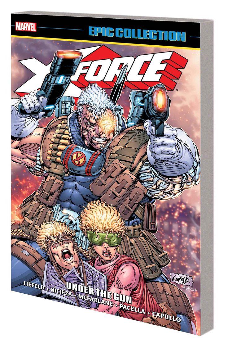 X-FORCE EPIC COLLECTION TP UNDER GUNLos nuevos mutantes se gradúan en X-Force!  Cable convierte a sus jóvenes cargos en una milicia mutante que significa negocio!  Cannonball, Boom Boom, Warpath, Domino, Shatterstar y Feral van en armas de fuego y espadas balanceando - por no hablar de todas las garras, cuchillos y explosiones!  Están en la caza del misterioso Stryfe y su Frente de Liberación Mutante, pero ¿cuál es la extraña conexión del villano con Cable?  X-Force se llevará a todos los…
