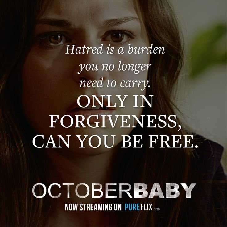 Only in forgiveness can you be free. #OctoberBaby http://offers.pureflix.com/october-baby-trailer?utm_campaign=October%20Baby&utm_medium=social&utm_source=pinterest