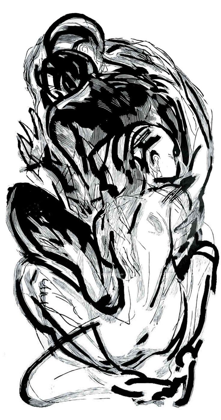 Sen 2, 60x160cm linocut, Marta Bożyk