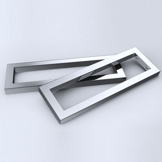Stainless Steel Wall Mounted Mirror Finish Basin Shelf Brackets   Durovin Bathro…   – bathroom units