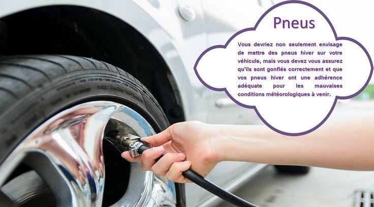 Pression des Pneus Avez-vous déjà remarqué que le voyant de pression de pneus de votre voiture s'allume parfois en hiver? Ou bien avez-vous remarqué que la consommation d'essence de votre voiture est moins bonne qu'elle ne l'était auparavant? Des pneus sous-gonflés peuvent rendre moins bonne la consommation d'essence de votre voiture et sont plus susceptibles au dommages (plats, éclatements des pneus, etc…).  #pneussanscrampons