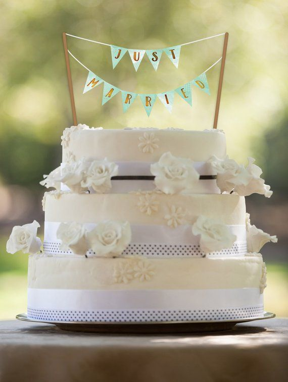 Mint Wedding, PRINTABLE Cake Topper, Mint and Gold Wedding, Mint