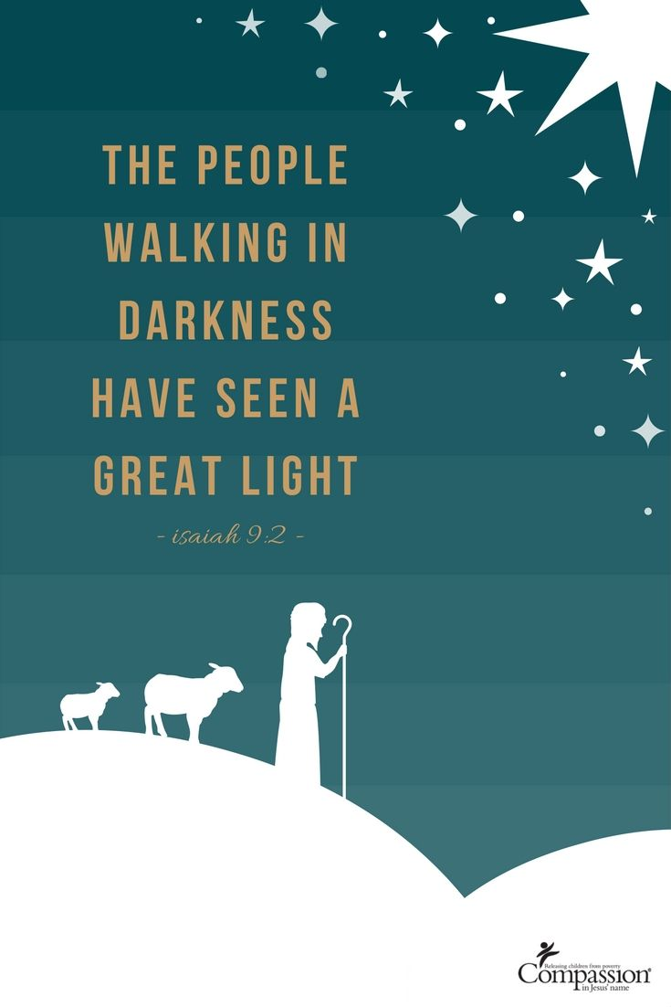 The people walking in darkness have seen a great light. – Isaiah 9:2   Merry Christmas Eve! Rejoice for the light of the world is coming to bring joy and hope for all. We will soon celebrate the birth of Jesus Christ. We are all His children. We hope that you have a wonderful celebration with loved ones!
