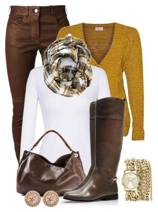 Fall Outfit by kimberlyn303 on Polyvore featuring polyvore, Mode, style, Givenchy, Tory Burch, Maison Margiela, Anne Klein, Zoe, fashion and clothing