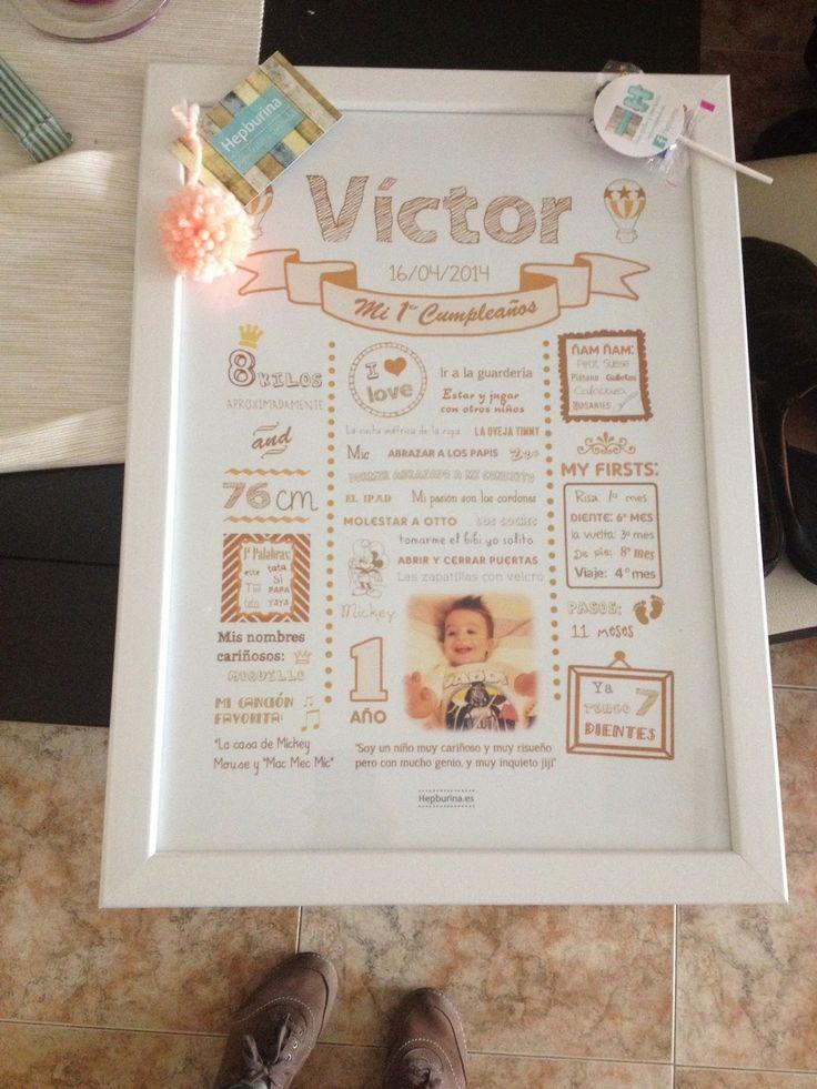 Hepburina: Lámina 1º cumpleaños Víctor