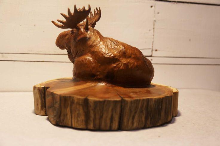 Cedar Stump Moose by cohowood on Etsy