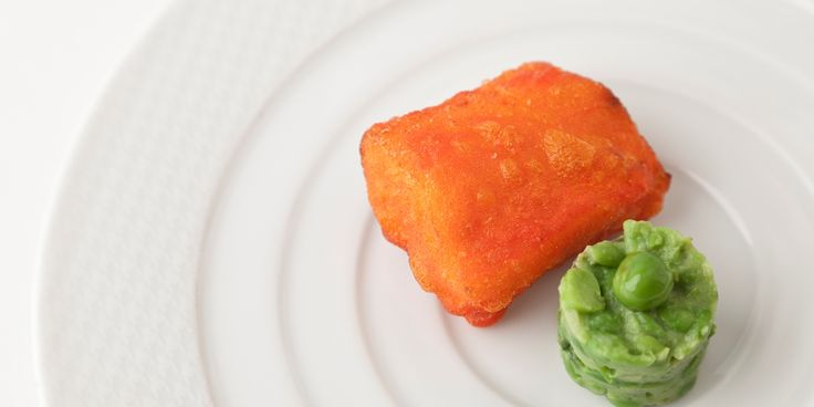 This cod fillet recipe is a fun alternative to battered cod and mushy peas and comes from famed Indian chef, Vineet Bhatia