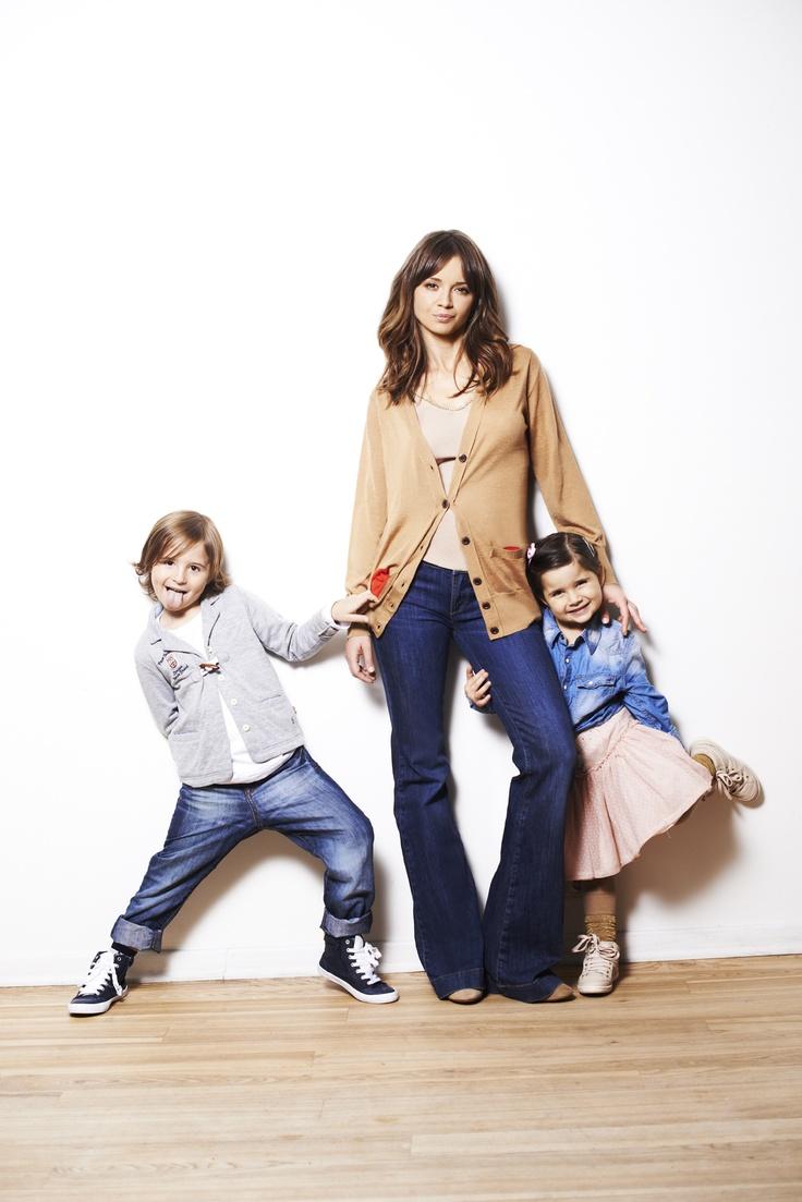 Ania i dzieci #Ania #Przybylska #kids #jeans #cardigan