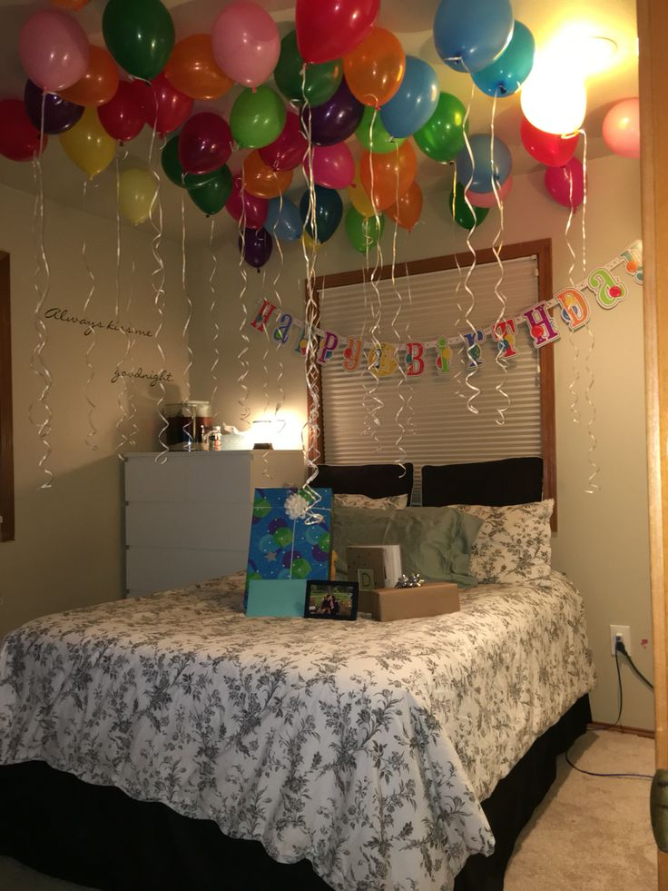 Birthday Surprise For Boyfriend Since Im Not 21 Yet We Couldnt Go Out Together So I Think This Is An Alright Substitute