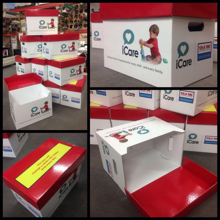 box package for icare with corugated material
