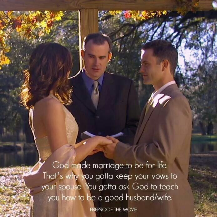 God made marriage to be for life!