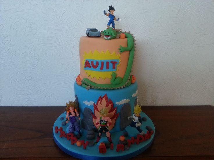 Dragon ball z cake. Goku.vegeta.gogeta. lamborghini