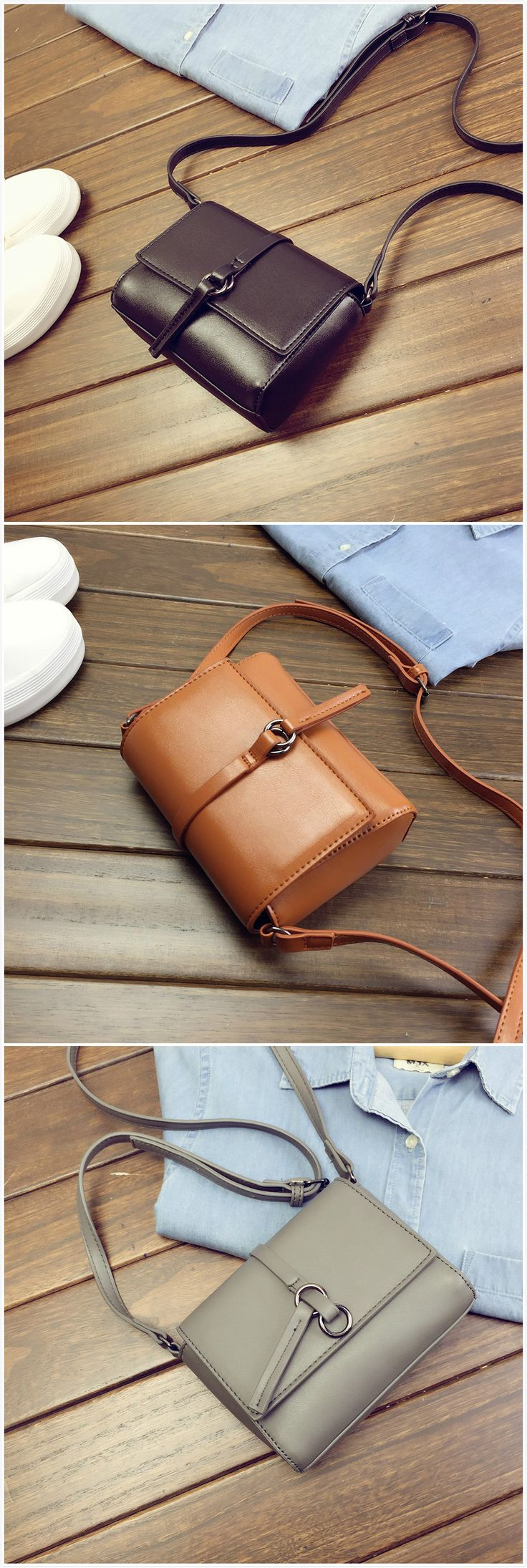 Women's PU Leather Square Cross Shoulder Bag