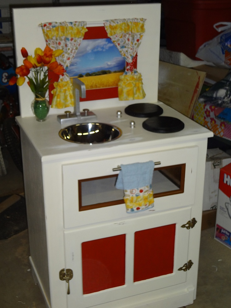 116 Best Furniture Kids Upcycle Refurbish Images On Pinterest Play Kitchens Rooms And Doll Houses