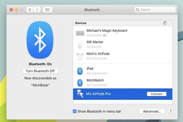 How To Connect Your Airpods To A Macbook In 2020 Connection Macbook Bluetooth Device