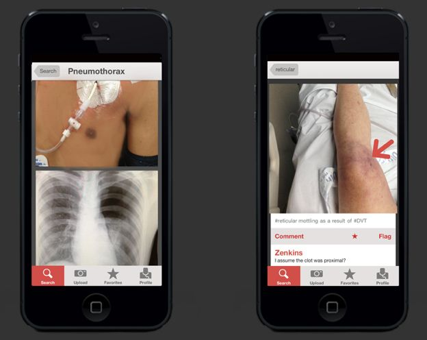 Figure 1, A Medical Photo Sharing App for Healthcare Professionals