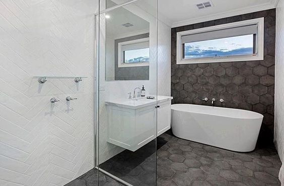 White Stand Alone Bath Tub White Vanity Stainless Steel Tap Mixer And Shower Head Project By C Bathroom Inspiration Bathroom Design Stainless Steel Taps