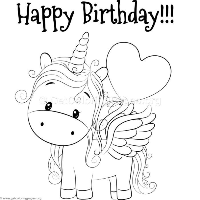 Coloring Pages Kidscoloringbook Unicorncoloringbook Unicorn Coloring Pages Happy Birthday Coloring Pages Birthday Coloring Pages