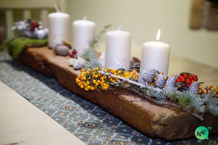 DIY adventi, karácsonyi asztaldísz, asztalközép-McMenemy Márk videója - advent centerpiece #advent  #centerpiece