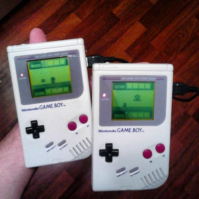 On instagram by percio78 #gameboy #microhobbit (o) http://ift.tt/1lccnXX @mlopez1268 at #tetris  2 player #linkcable #vs #retrogamer