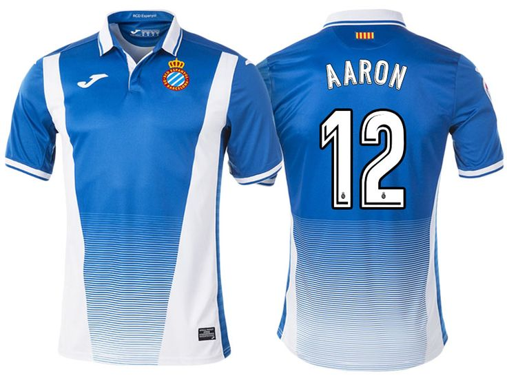 RCD Espanyol #12 Aaron Martin 17-18 Home Short Shirt