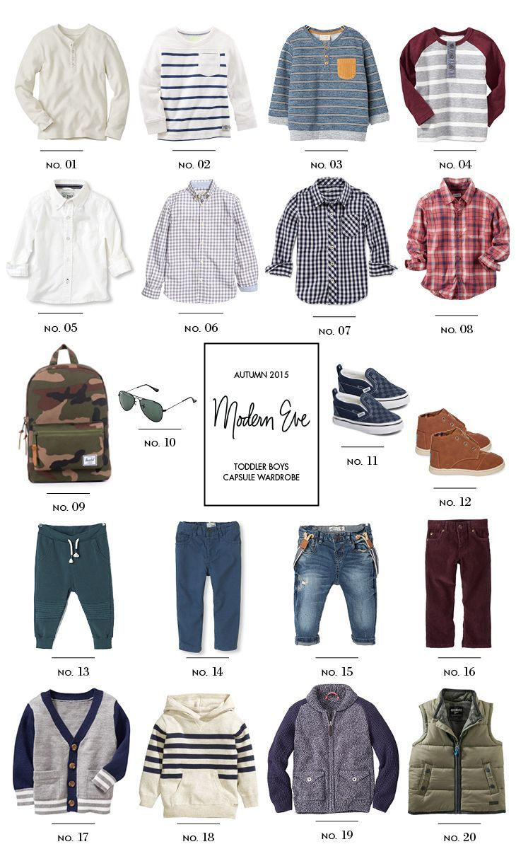 Toddler Capsule Wardrobe: Fall for Boys