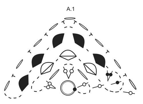Chal a ganchillo con patrón de abanicos. La pieza es trabajada en DROPS Delight.