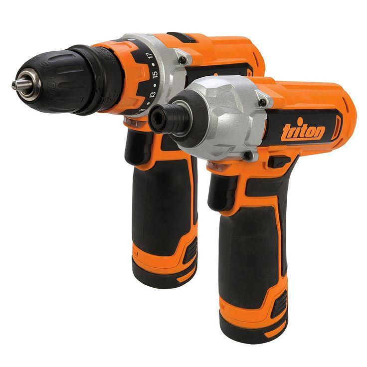 Triton 972446 Cordless Kit Drill Driver-Impact Driver