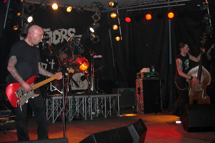"The Meteors are an English psychobilly formed in 1980.  Songs include ""Kat Killer"", ""I Go To Bed (With The Undead)"", and ""King Of The Mutilators."""
