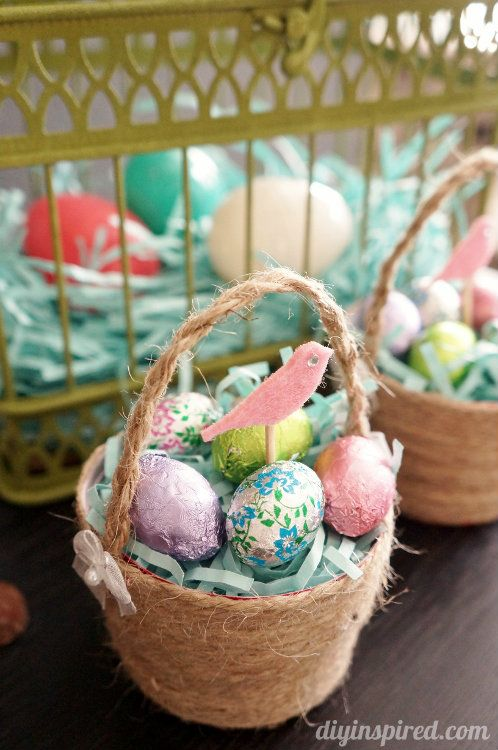 Upcycled Plastic Cup Mini Easter Baskets Made From Red Solo Cups Diy Home Decor Ideas