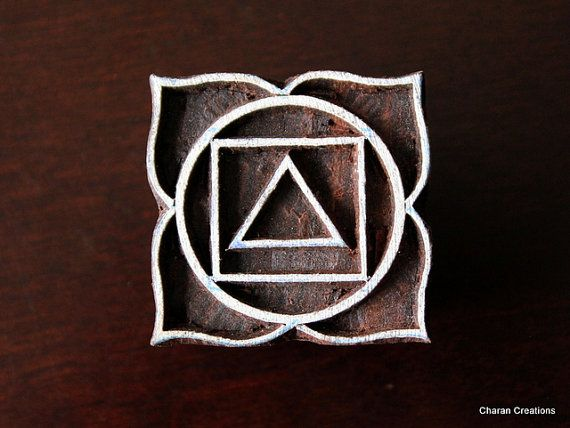 Hand Carved Indian Wood Textile Stamp Block by charancreations, $12.50