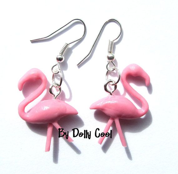 Flamingo Earrings Pink 50s inspired by Dolly Cool