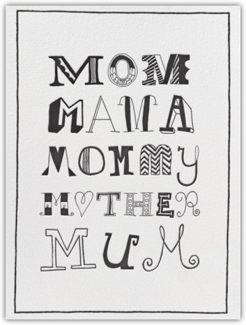 Mother's Day Typography
