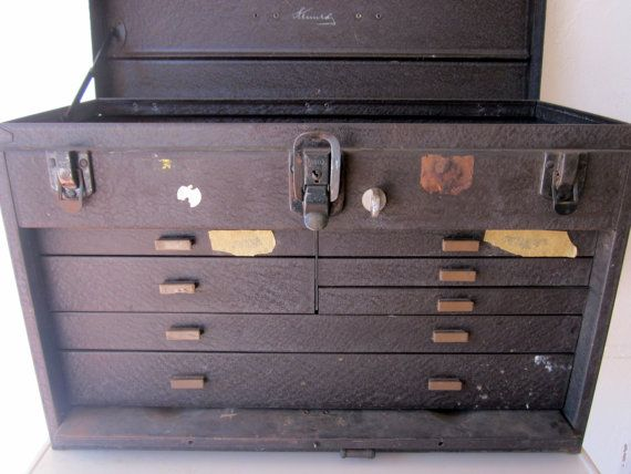 HUGE old vintage 1950s KENNEDY machinist tool box by welovelucite