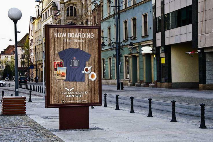 Ad/outdoor campaign för lokal airport,