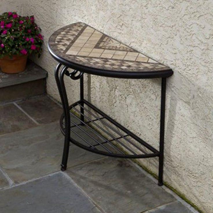 Basilica Mosaic Outdoor Console Table - 21-1319