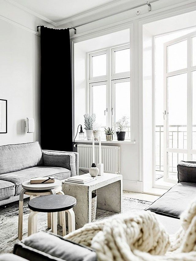 Sometimes you only need a few concrete accents to give your space some street cred. I'm loving the monochrome look in this Scandinavian apartment. The lack of color unifies the space, which...