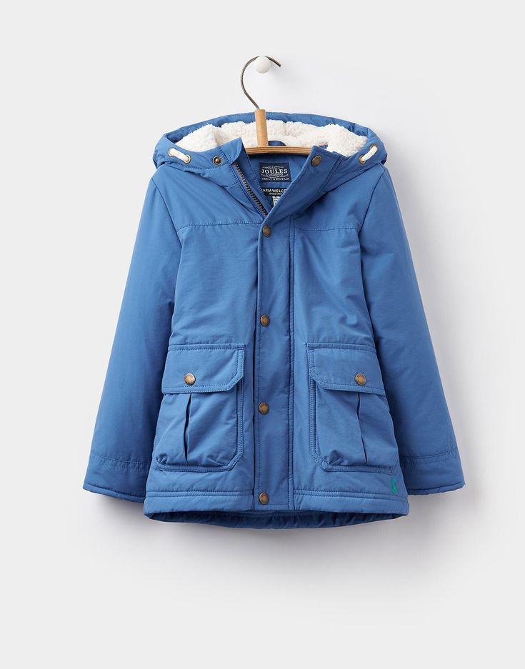 Parker Ocean Blue Parka Jacket 1-6yr | Joules US