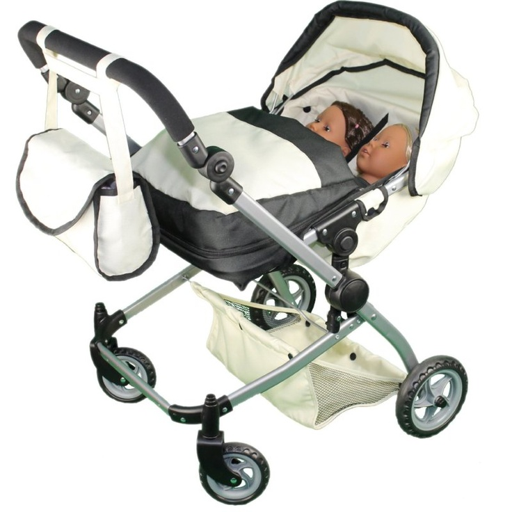 200 eek!! Babyboo Deluxe Twin Doll Pram/Stroller with